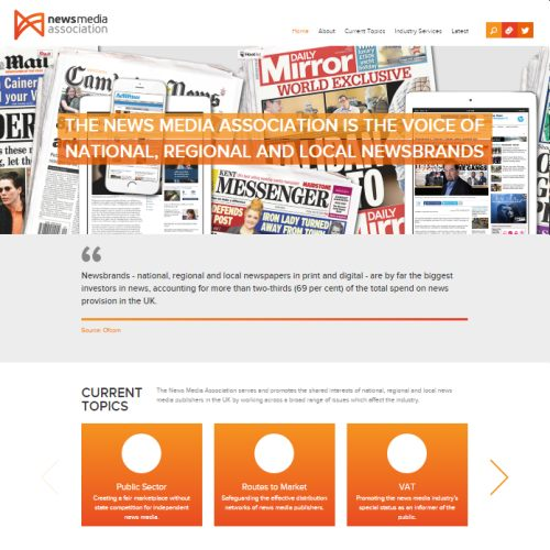 The new NMA web site